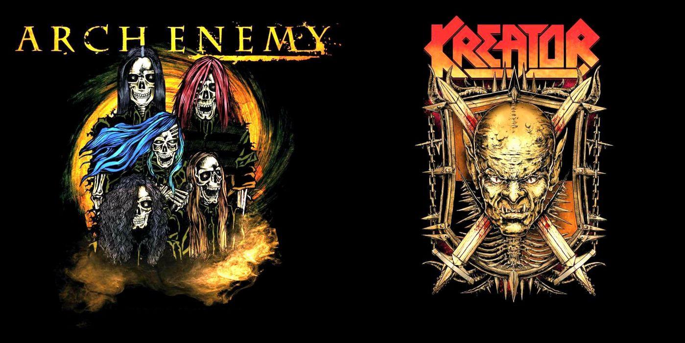 KREATOR thrash metal heavy rock dark evil poster arch enemy wallpaper