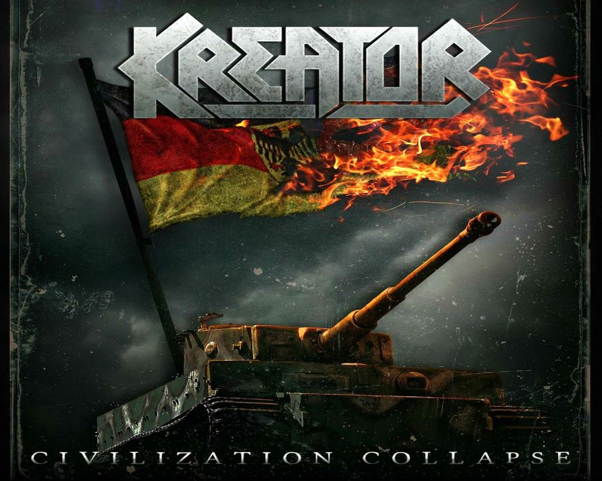 KREATOR thrash metal heavy rock dark evil poster tank tanks fire wallpaper