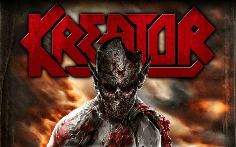 KREATOR thrash metal heavy rock dark evil poster zombie demon blood wallpaper