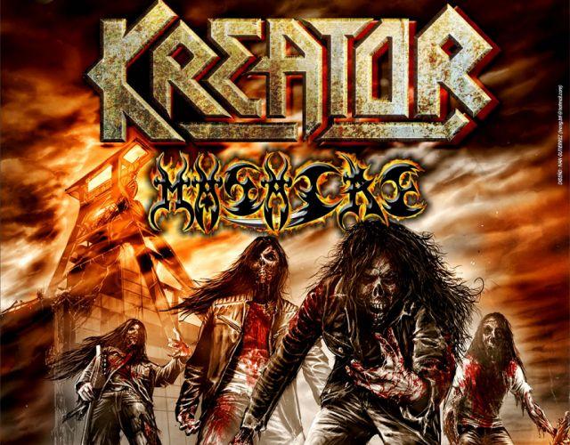 KREATOR thrash metal heavy rock dark evil poster zombie skull wallpaper