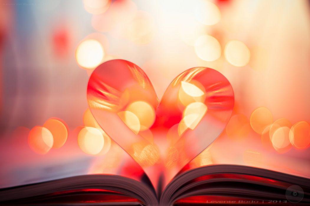mood love hearts bokeh book wallpaper