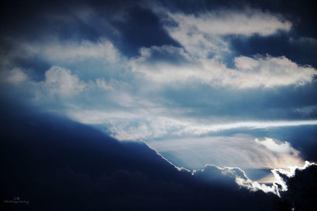 clouds sky landscape wallpaper