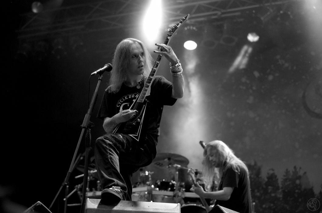 CHILDREN OF BODOM thrash death metal heavy technical progressive concert guitar wallpaper