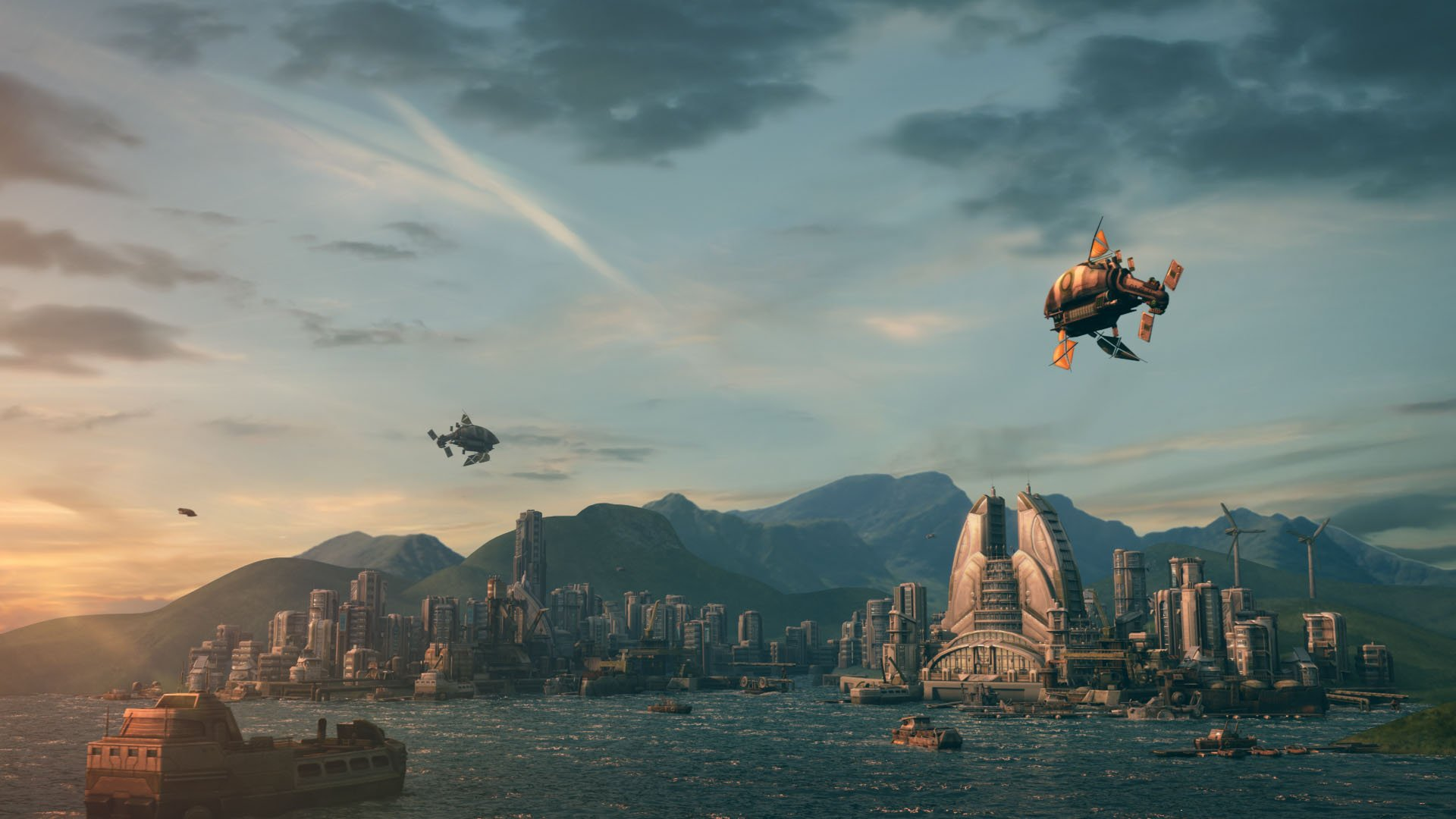 Anno 2070 building game strategy sci fi city cities design for Anno 2070 find architect