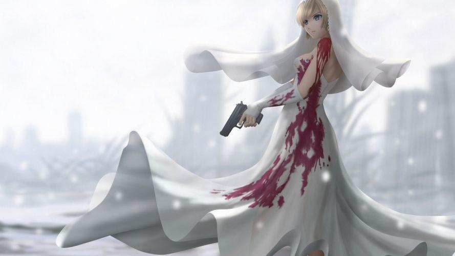 PARASITE EVE action rpg survival horror violence animation babe dark wallpaper