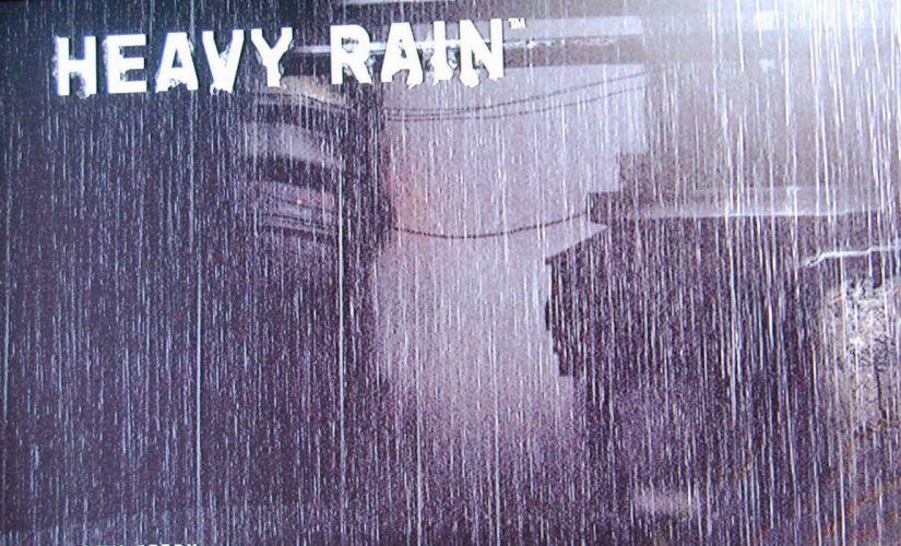 HEAVY RAIN drama action adventure noir thriller cinematic violence orgami poster wallpaper