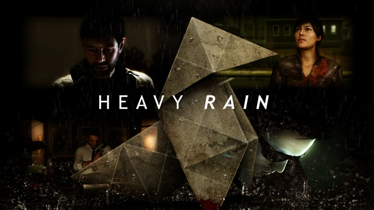HEAVY RAIN drama action adventure noir thriller cinematic violence orgami poster wallpaper