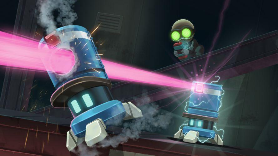 STEALTH INC action platform sci-fi robot tactical strategy wallpaper