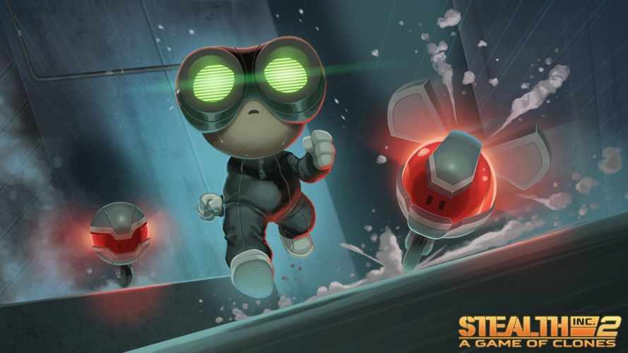 STEALTH INC action platform sci-fi robot tactical strategy poster wallpaper