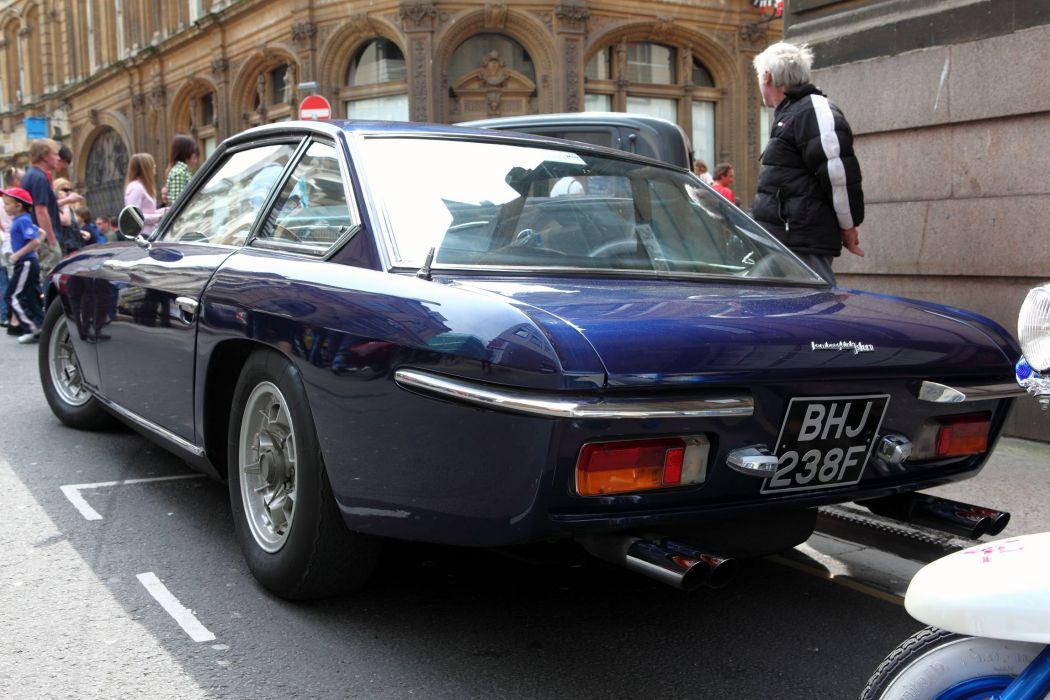 car classic islero Italy Lamborghini sportcars Supercars blue bleu wallpaper