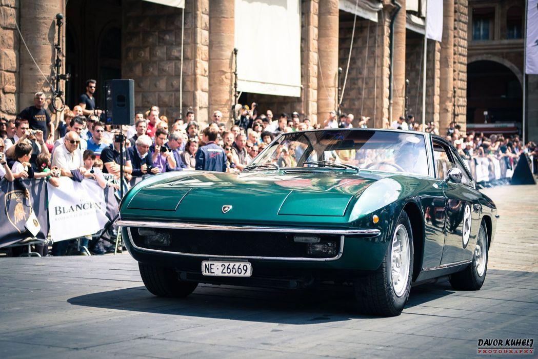 car classic islero Italy Lamborghini sportcars Supercars green wallpaper