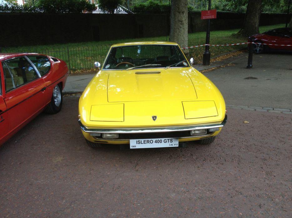 car classic islero Italy Lamborghini sportcars Supercars yellow jaune wallpaper