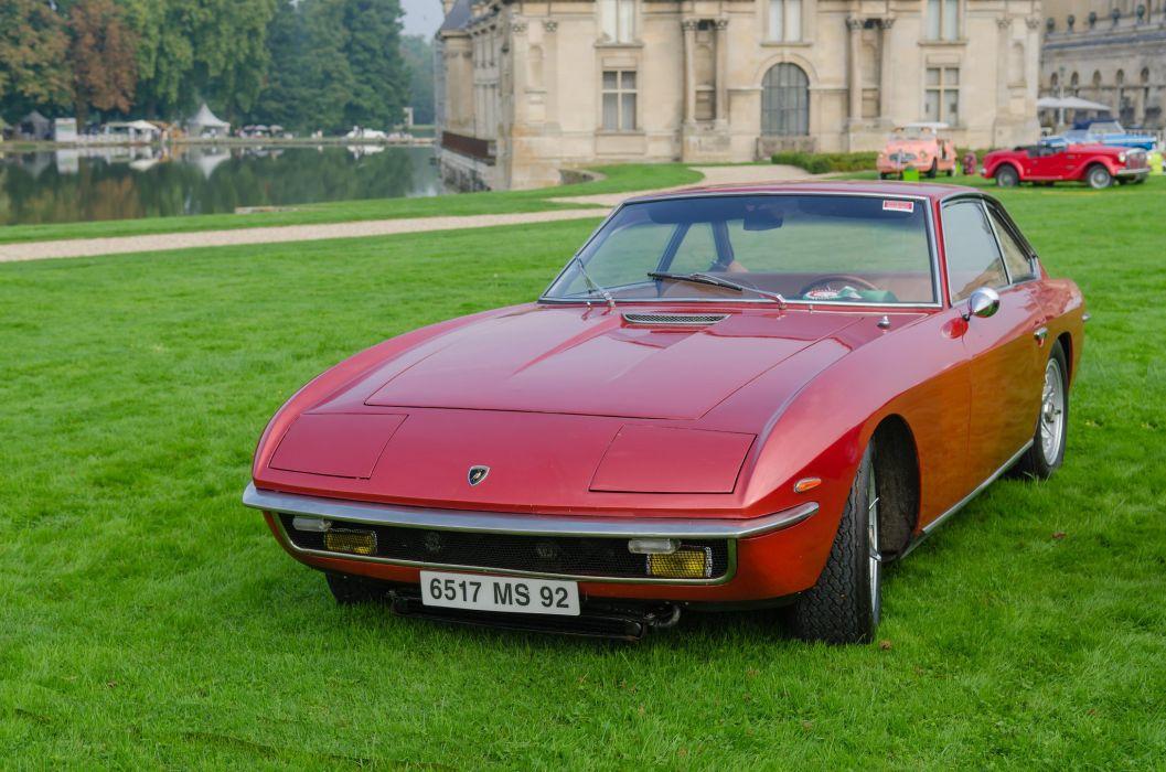 car classic islero Italy Lamborghini sportcars Supercars red rouge wallpaper