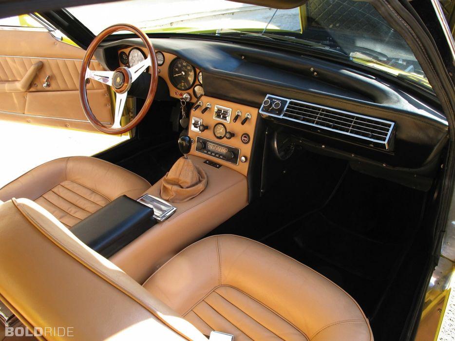 car classic islero Italy Lamborghini sportcars Supercars interior wallpaper