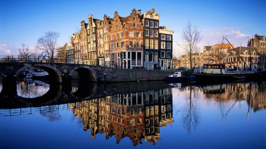 amsterdam-holanda-canal-ciudad-puente wallpaper