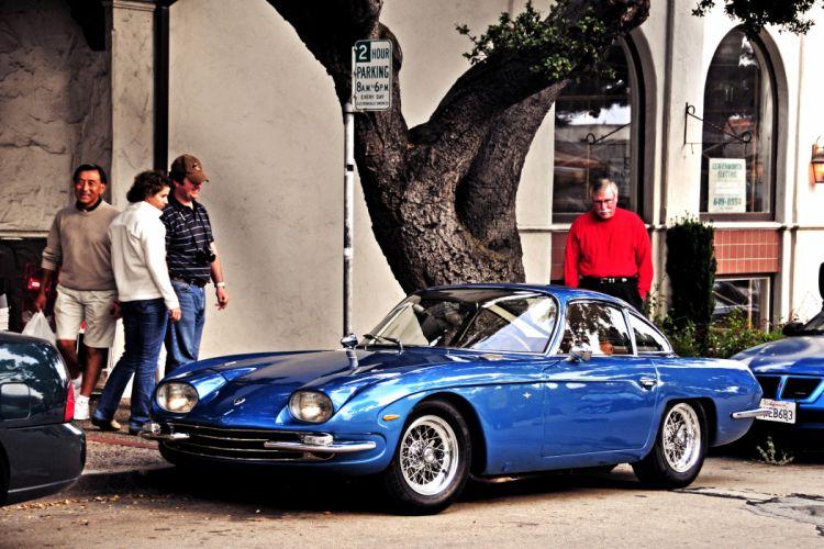 350 classic g t Lamborghini Supercar supercars cars italy italy blue bleu wallpaper