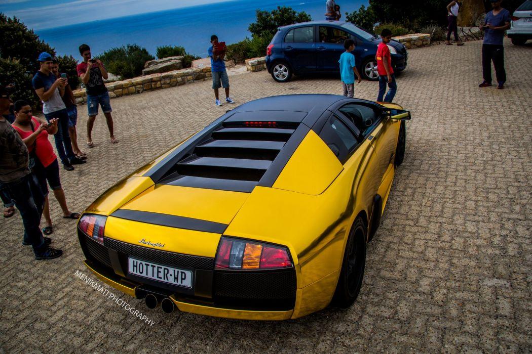 Lamborghini Murcielago gold chrome coupe Vinyl wrap cars supercars  wallpaper