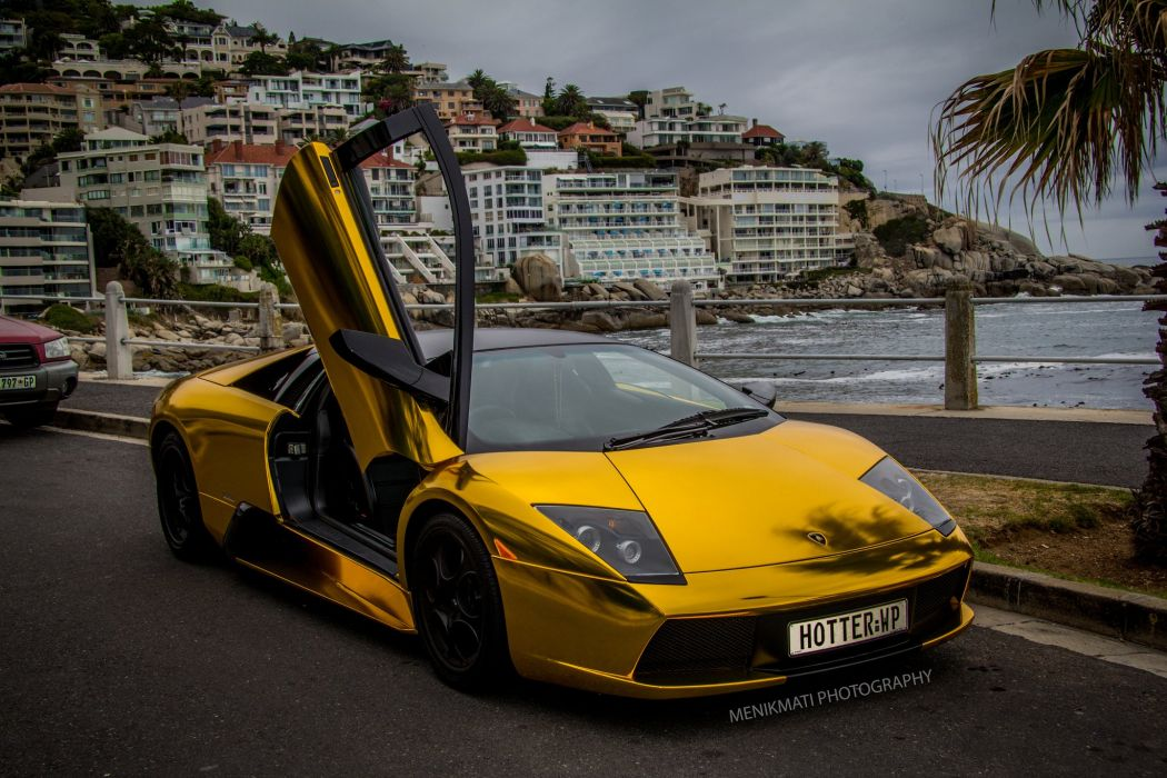 Lamborghini Murcielago Gold Chrome Coupe Vinyl Wrap Cars Supercars