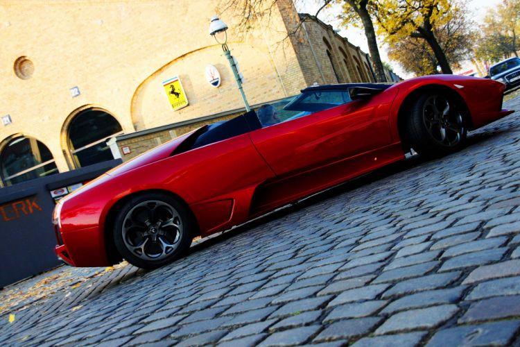 cars Chrome Coupe Lamborghini Murcielago red supercars Vinyl wrap wallpaper