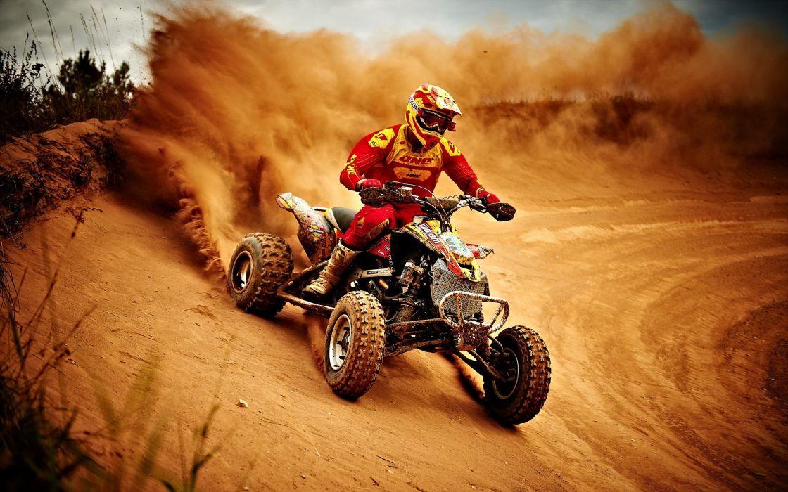 quads-competicion-polvo-carrera-piloto wallpaper