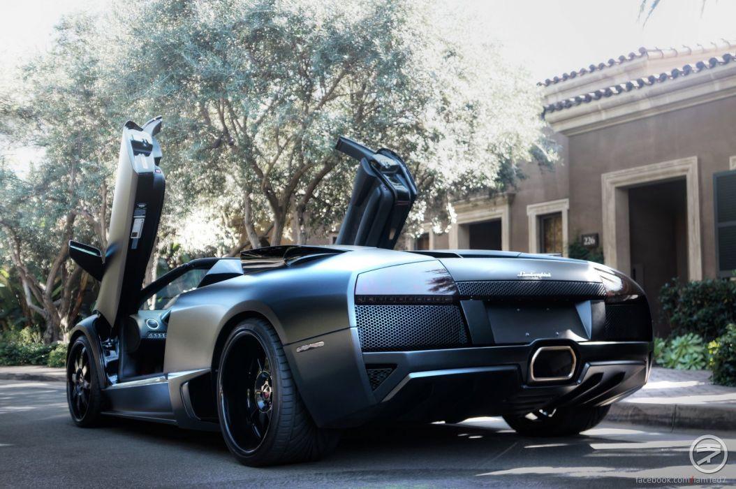 lamborghini murcielago roadster cars coupe supercars black wallpaper