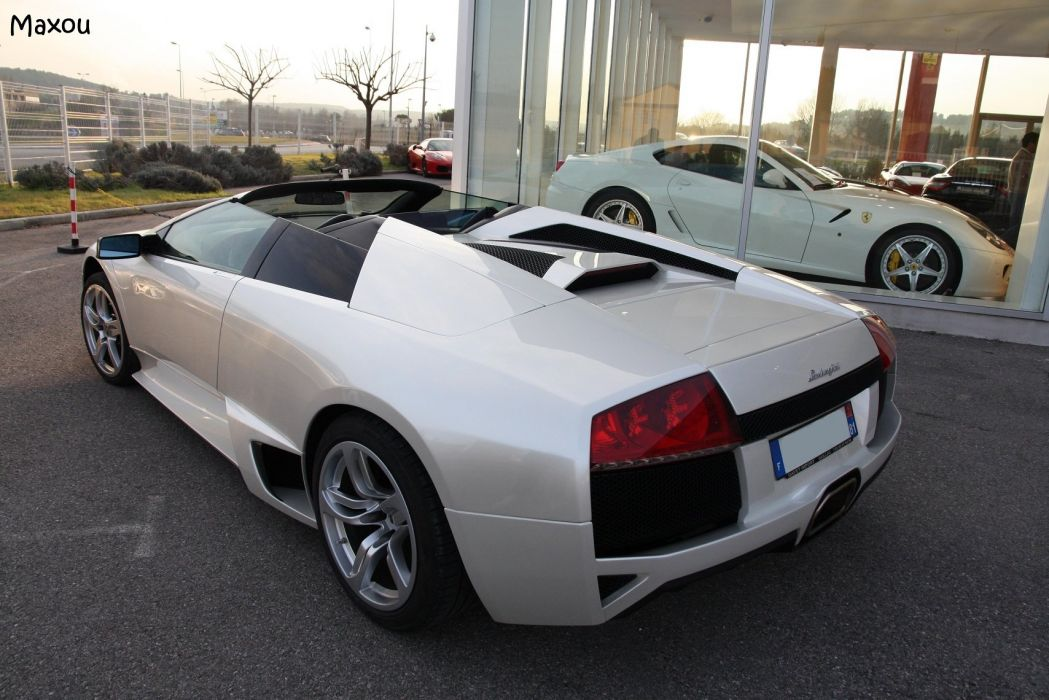 lamborghini murcielago roadster cars coupe supercars white blanc wallpaper