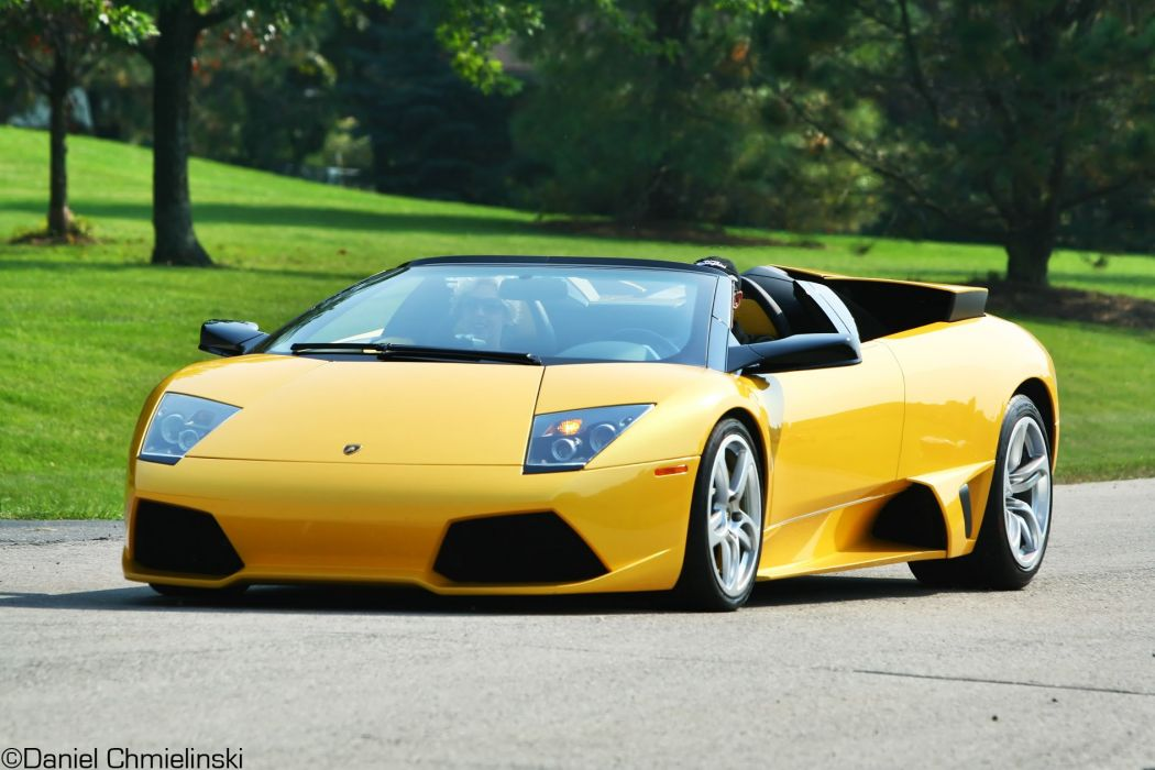 Lamborghini Murcielago Roadster Cars Coupe Supercars Yellow Jaune