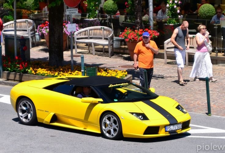 lamborghini murcielago roadster cars coupe supercars yellow jaune wallpaper