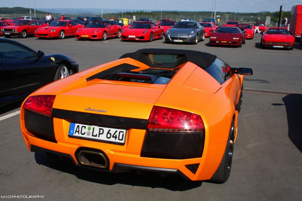 lamborghini murcielago roadster cars coupe supercars orange wallpaper