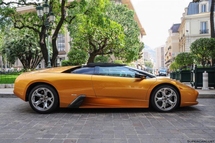 lamborghini murcielago roadster cars coupe supercars orange wallpaper