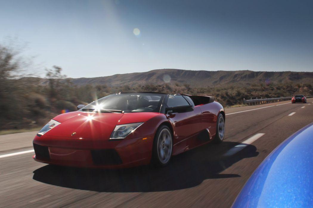 lamborghini murcielago roadster cars coupe supercars rouge wallpaper