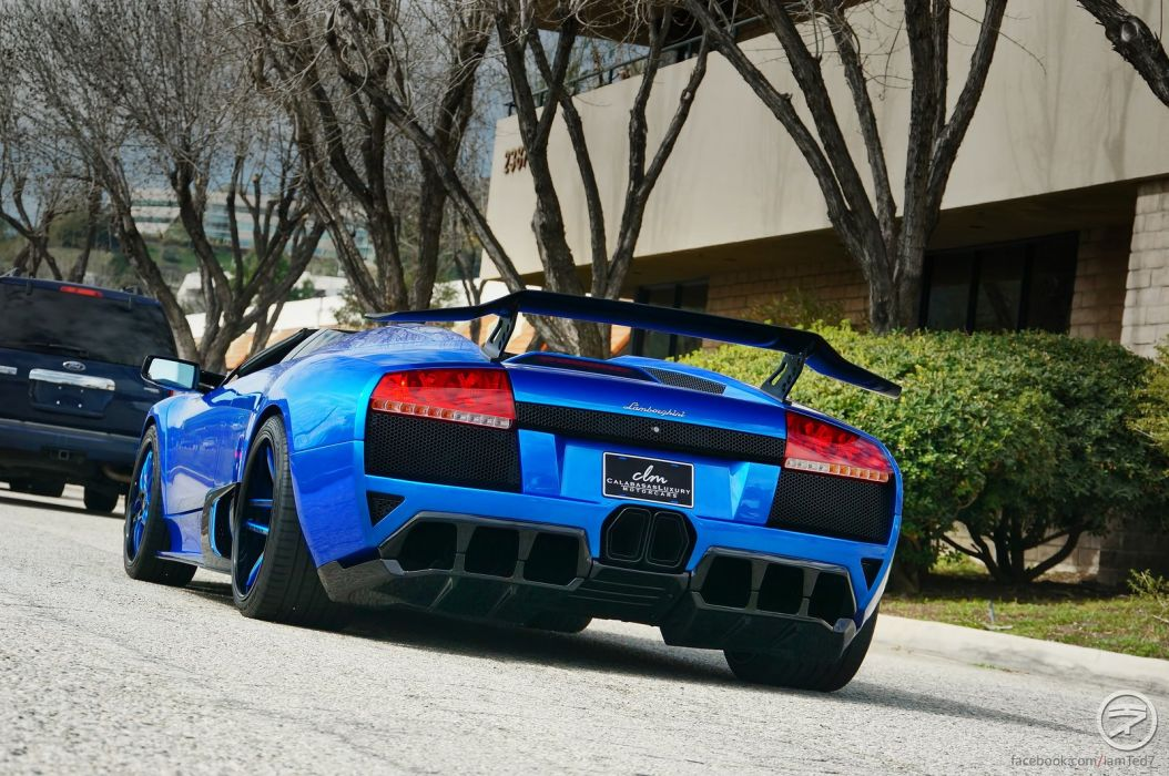 lamborghini murcielago roadster cars coupe supercars blue bleu wallpaper