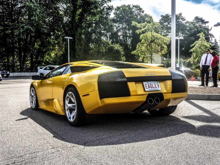 lamborghini murcielago cars coupe supercars italy jaune yellow wallpaper
