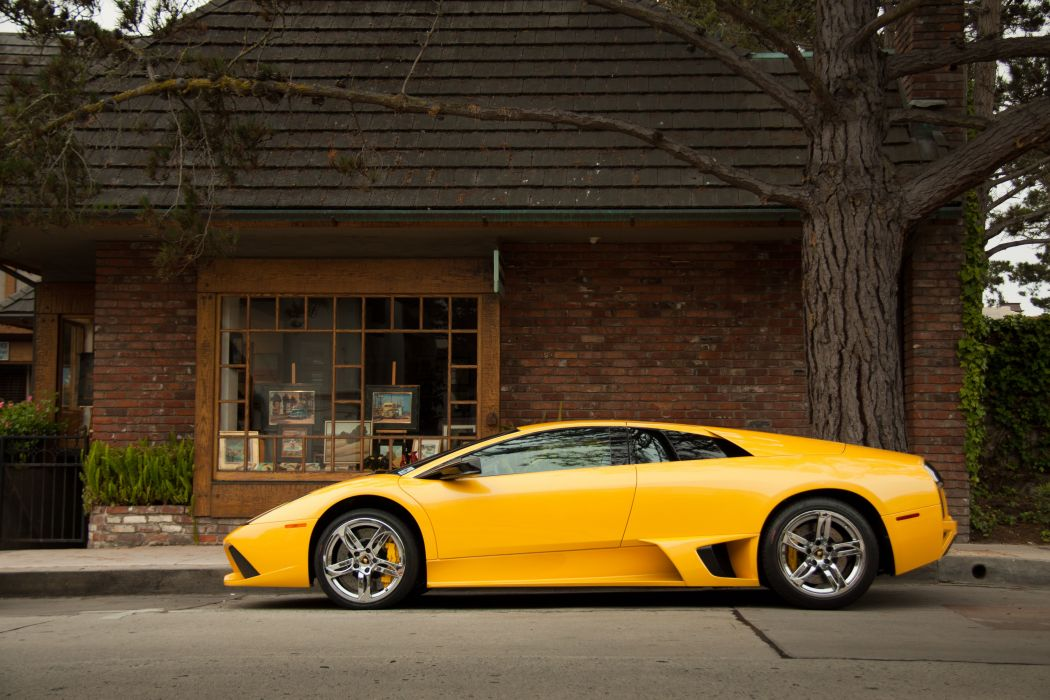 Lamborghini Murcielago Cars Coupe Supercars Italy Jaune Yellow