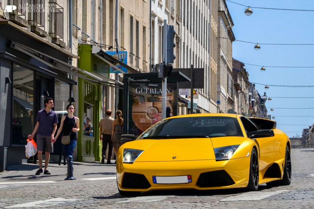 lamborghini murcielago cars coupe supercars italy jaune yellow wallpaper