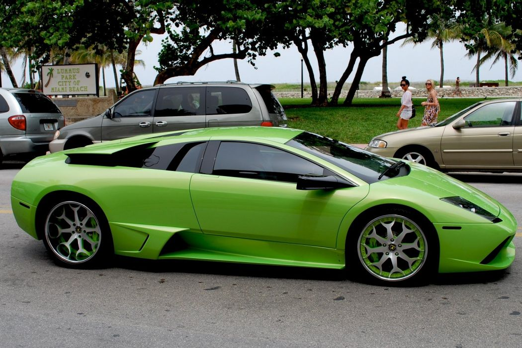 lamborghini murcielago cars coupe supercars italy green vert wallpaper