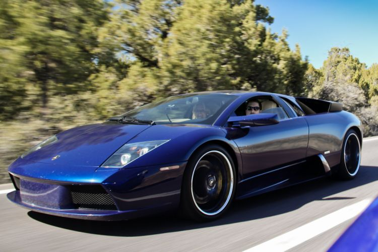 lamborghini murcielago cars coupe supercars italy blue bleu wallpaper