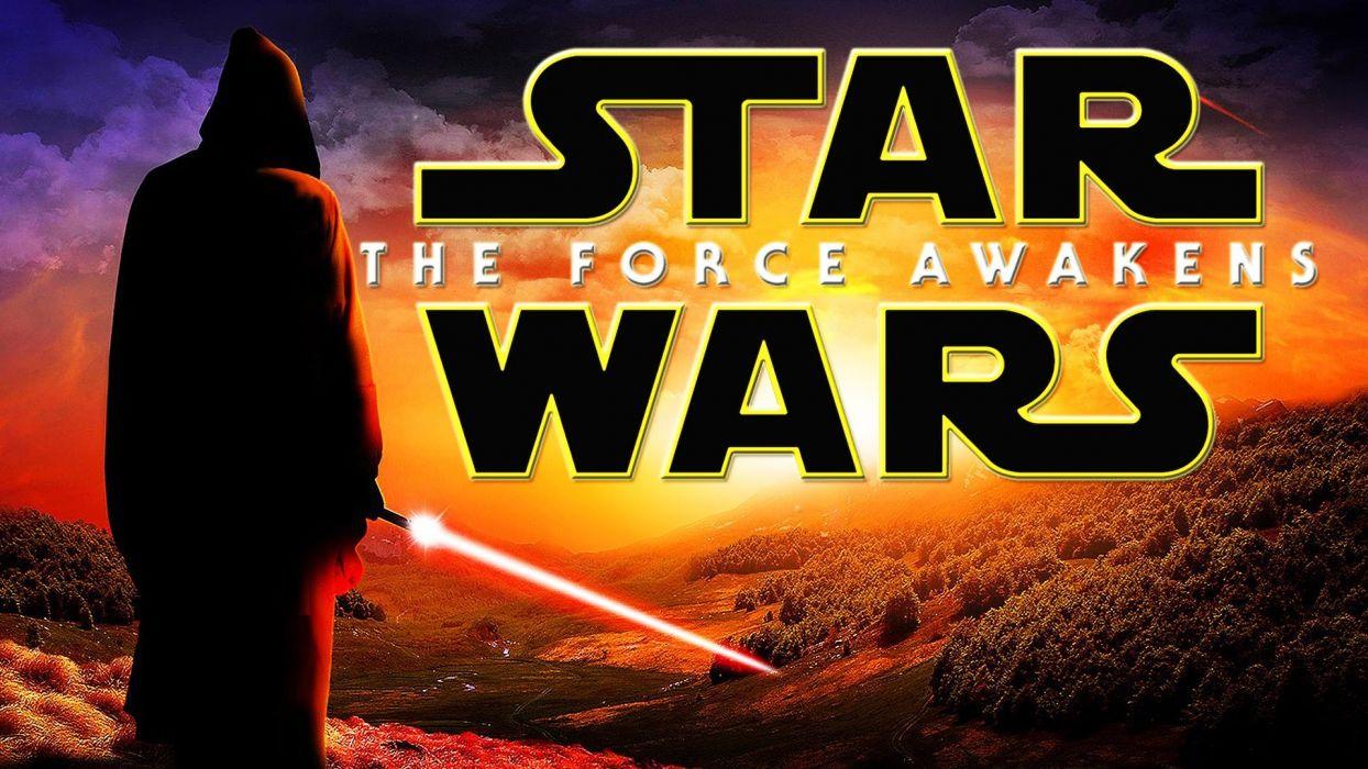 STAR WARS FORCE AWAKENS action adventure fighting sci-fi science futuristic 1star-wars-force-awakens disney poster wallpaper