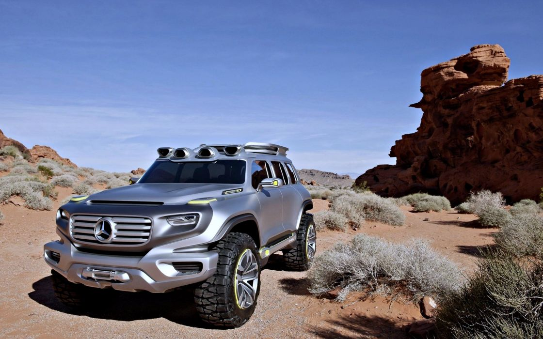 mercedes-benz ener-g-force motors speed desert wallpaper