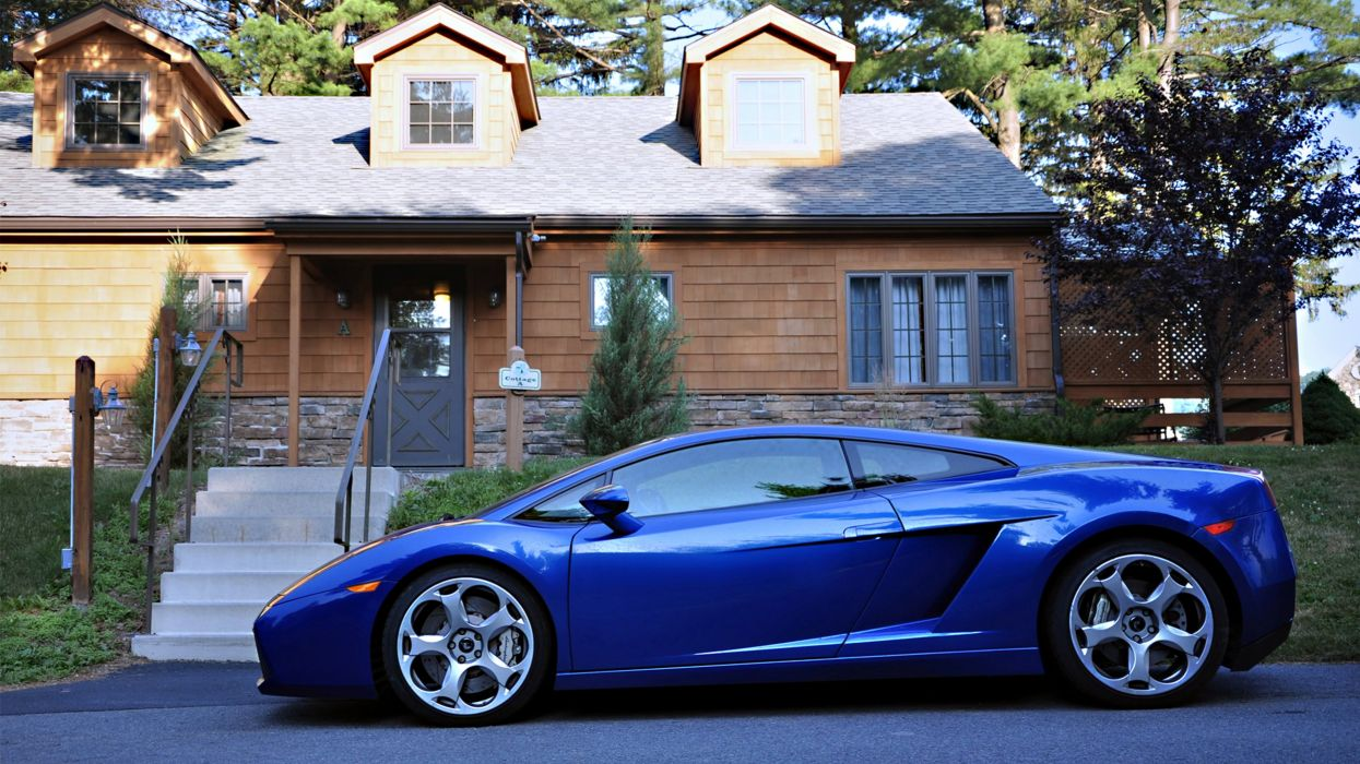 cars lamborghini gallardo motors speed blue wallpaper
