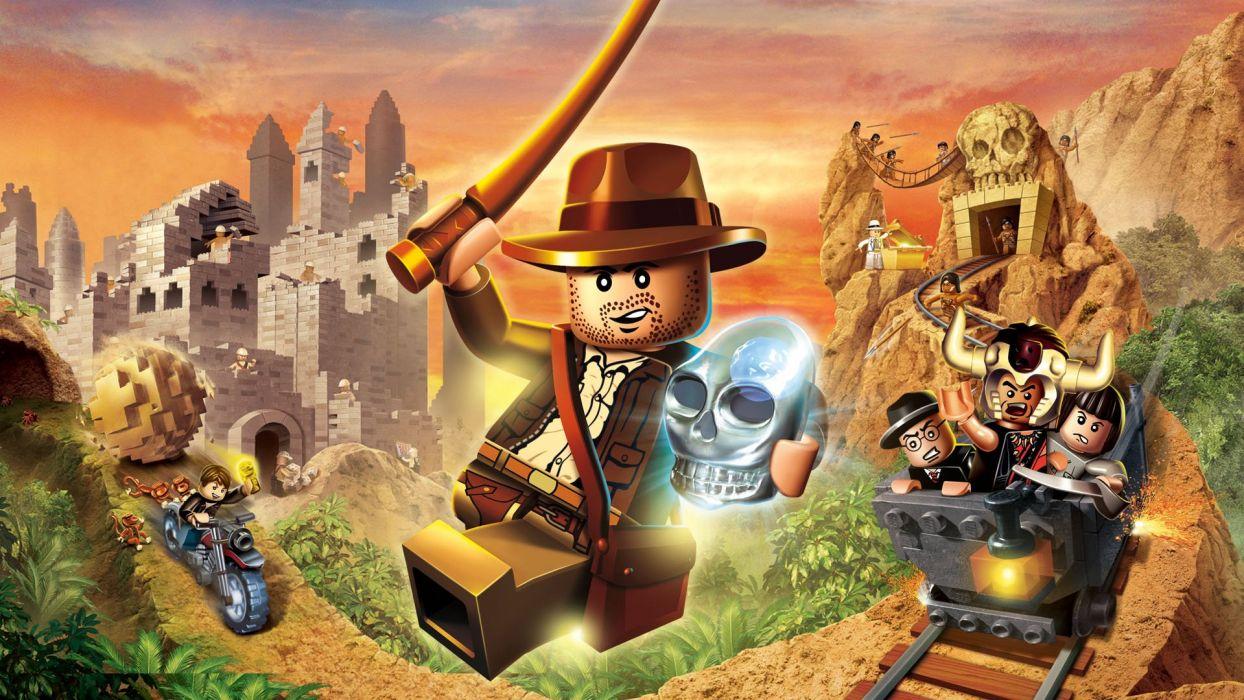 INDIANA JONES action adventure fantasy hero heroes thriller disney poster lego legos wallpaper