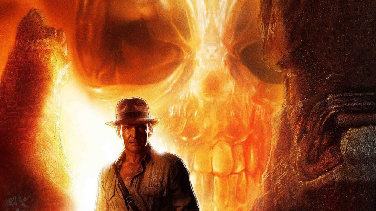 INDIANA JONES action adventure fantasy hero heroes thriller disney skull wallpaper