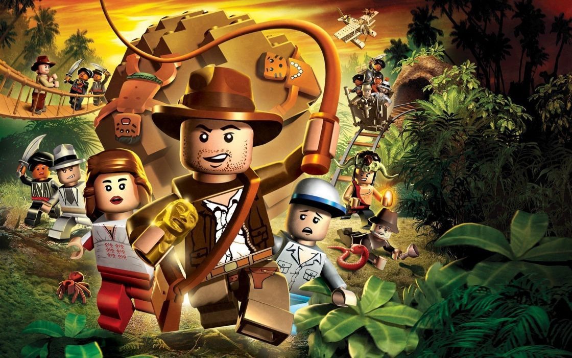 INDIANA JONES action adventure fantasy hero heroes thriller disney poster lego legos wallpaper