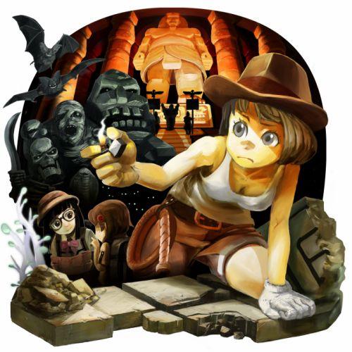INDIANA JONES action adventure fantasy hero heroes thriller disney original wallpaper