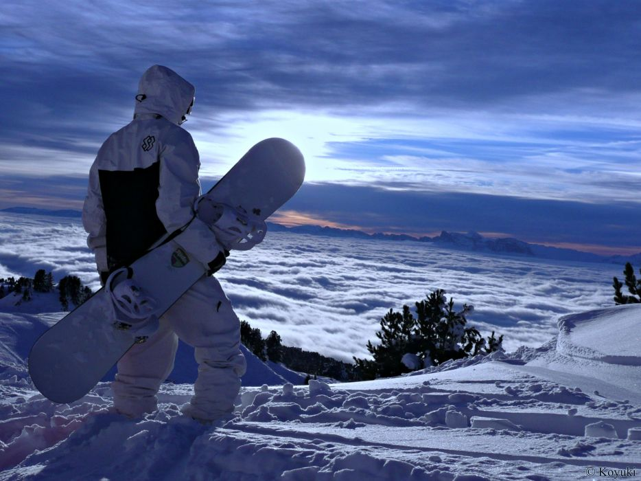 extreme snow winter sports snowboarding landscape wallpaper