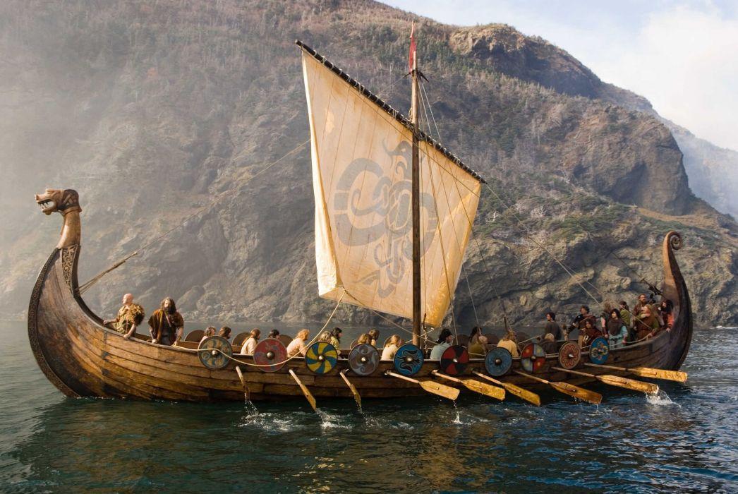 barco-vikingo-mar-historia wallpaper