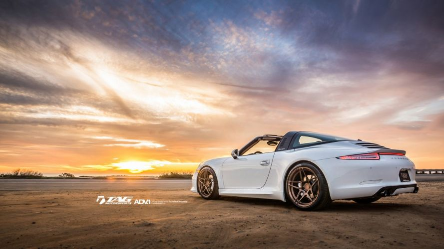 2015 adv1 wheels porsche 991 targa cars coupe tuning wallpaper