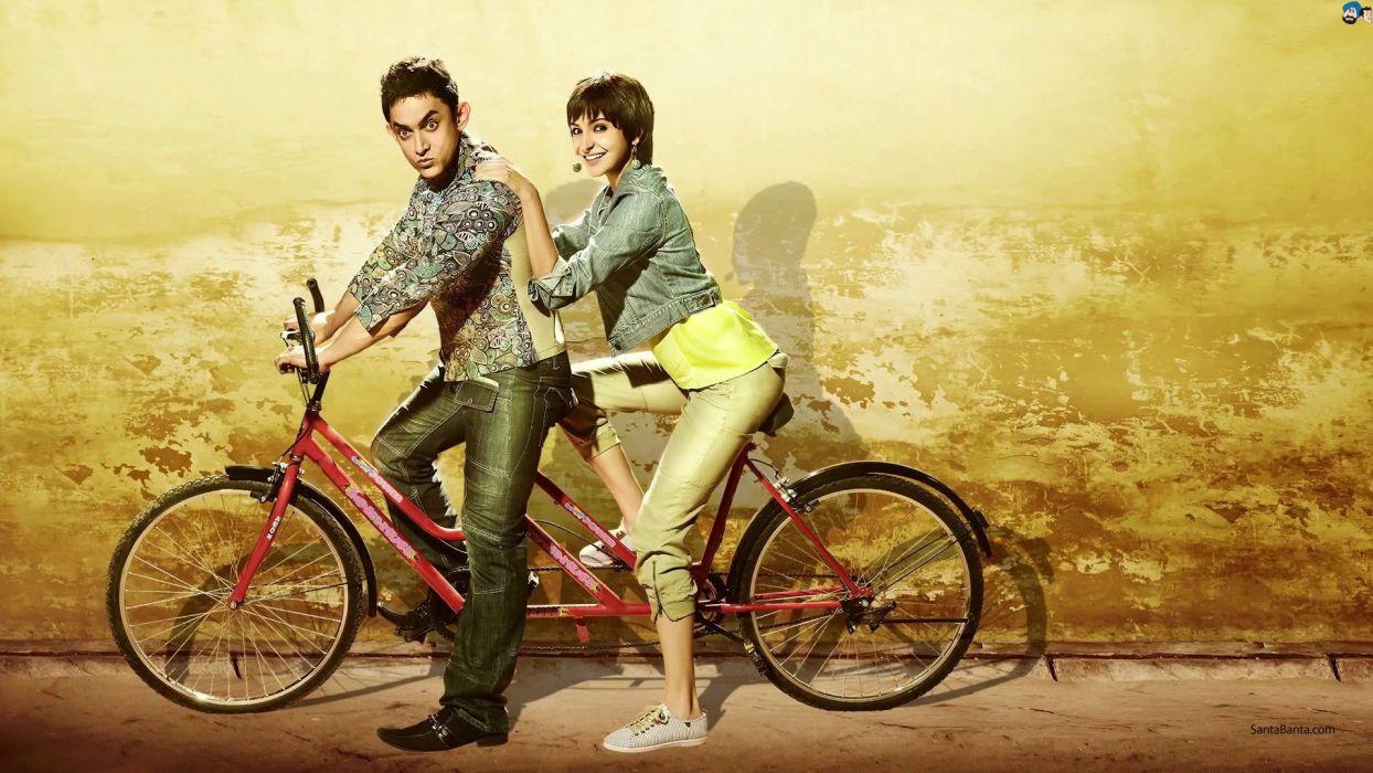 hindistan india movie P K Aamir Khan Anushka Sharma Bollywood wallpaper
