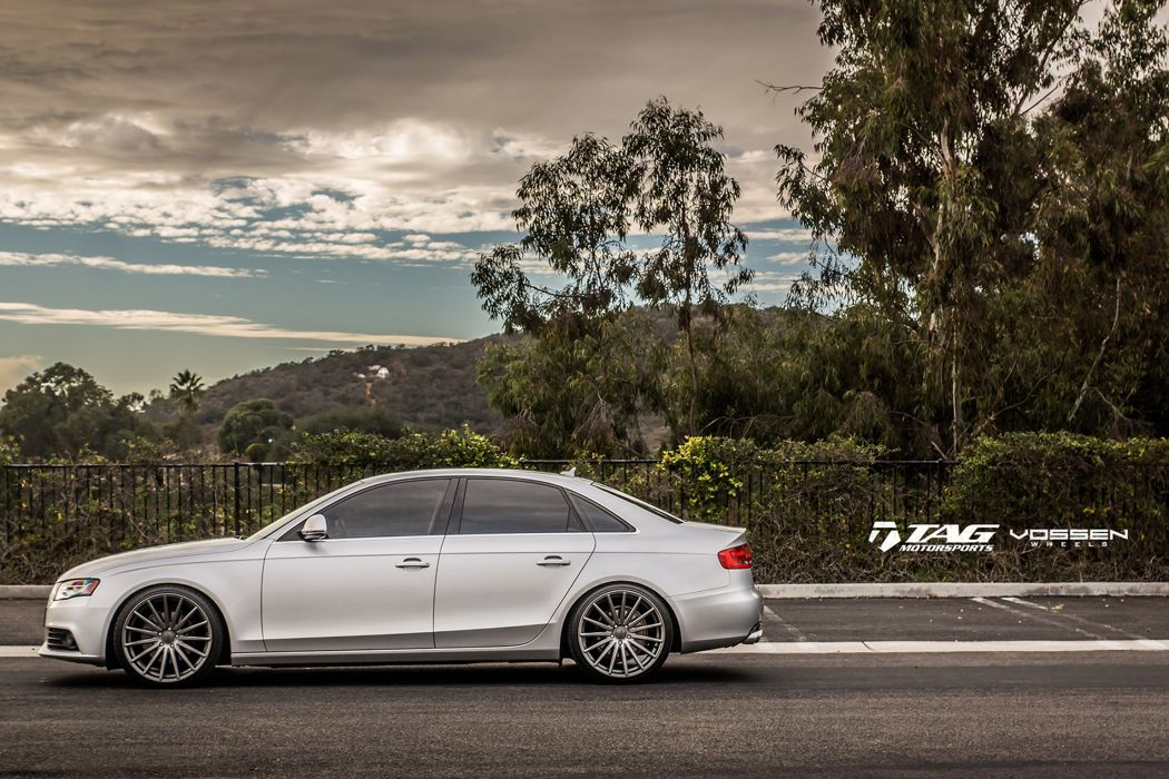 2015 vossen audi a4 Tuning wheels cars wallpaper