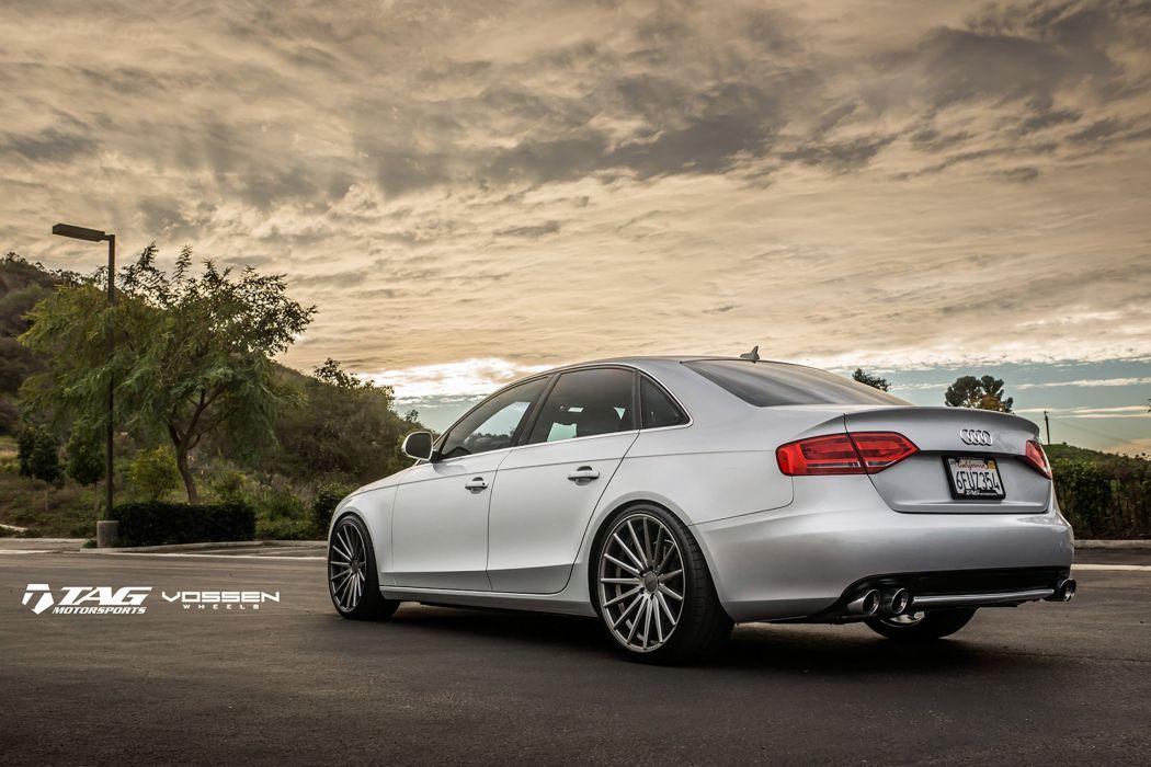 2015 vossen audi a4 Tuning wheels cars wallpaper